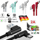 USB Winkel 90 Grad IPhone X 8 7 6 5 6 Samsung Type C Huawei Ladekabel Sony