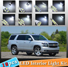 12-pc White LED Car Interior Light Bulbs Package Kit Fit 2007-2014 Chevy Tahoe