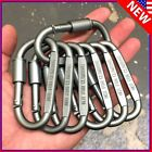 3pc - 20pc Ideal Aluminum Carabiner D-ring Keychain Clip Hook Buckle Outdoor