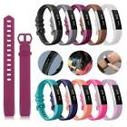 Replacement Silicone Strap Wristband Secure Buckle Wtach Band For Fitbit Alta HR