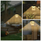 LED Light Wall Mount Solar Powered Outdoor Garden Path Landscape Fence Yard Lamp