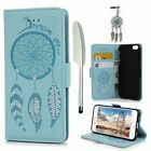 iPhone 6 Case, iPhone 6S Wallet Case, Drawing Wind Chimes Embossed PU Leather