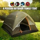 Camping 4 Person Double Layer Waterproof Tents UV Weather Resistant Outdoor Tent