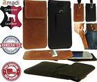 HANDY GENUINE LEATHER WAIST BAG POUCH CASE COVER WITH CARD POCKET FOR IPHONE