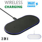 2 in 1 Qi Wireless Fast Charger Charging Pad Stand Dock for iPhone Xs Max Xr X #