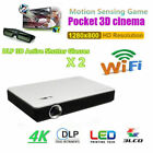 Mini Portable 8000 Lumens Android 4K Video Home Theater Projector 3D Wifi BT4.0