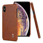 iMak Luxury Business Leather Shockproof Back Case Cover For iPhone XS Max XR X