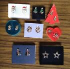 Avon Christmas Earrings - Post/Stud or Clip-On Backing - Choose Your Style