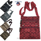 New Ladies Thin Flat Crossbody Purse Bag Wallet Travel Shoulder Messenger bag image