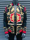 Men's Black | Red | White Fitted Track Fashion Jacket