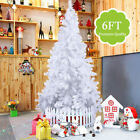 White 4/5/6/7/8 Feet Christmas Tree W/Stand Holiday Season Indoor Outdoor MA