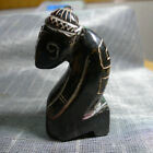 Chinese red mountain culture jade hand-carved squatting person meets noble peopl