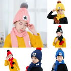Kid Winter Knitted Star Hat Child Soft Warm Fur knitting Ski Cap Cozy