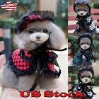 Pet Puppy Funny Small Dog clothes Pet Hat Dog Wig Costume Clothing Clothes Dress
