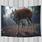 Sika Deer Mother and Baby Tapestry Wall Hanging for Living Room Bedroom Decor