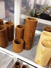 Handcrafted Natural Wood Log Planter,House,Office,Garden Plant Pot,Decor,2-6inch