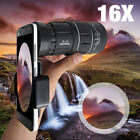 16x52 Zoom Hiking Concert Camera Lens Monocular Telescope + Cell Phone Clip