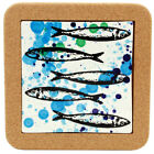 Внешний вид - Portugal Gifts Hand Painted Tile Trivet With Cork Made In Portugal