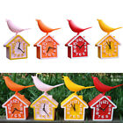 moving tail bird house digital wall clock kid room decor kitchen time watch