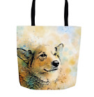 Tote bag, Dog Tote bag, All-over print, Dog 143 Corgi digital art LDumas