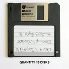 "Quantity 10, 3.5"", 3-1/2"", DSHD, 1.44MB Floppy Disks, Not Tested See DESCRIPTION"