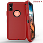 Full Protection Cover For Apple iPhone X Defender Case  (fits Otterbox)