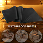 Master Series Rubber Fitted Sheet King Size Waterproof Play Fantasy Sheet -Black image