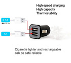 USAMS 3.1A Dual Twin 2 USB Port Car Charger Adapter Plug For Huawei Phone Tab UK