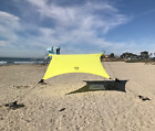Neso Grande Beach Tent with Sand Anchor, Portable Canopy Sun Shelter(Lemon)-USED