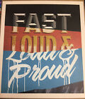 """5x Fast, Loud & Proud 10"""" x 11¾"""" signs from Marlboro promo-FREE SHIPPING-posters"""