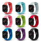 Apple Watch Soft Silicone Sport Strap Loop Replacement Band Series 4 3 2 1 Nike+ image