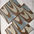 Lot of 3 Tapestry Fabric Craft Pillow Top Upholstery Remnant 'Retro Curve'   L