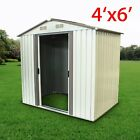 2 Size Storage Shed Kit Metal Garden Building Tool Steel Outdoor DIY Backyard MA