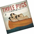 Three Pugs in a Canoe by Ryan Fowler Vintage Ads Animals Dogs Pets Print Post...