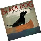 Black Dog Canoe - Poster by Ryan Fowler (12 x 12) A 12 inch x 12 inch