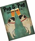 Pug and Pug Brewing Collections Art Poster Print by Ryan Fowler, 11x14
