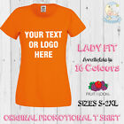 Printed T Shirt Promotional Personalised Lady Fit Print T-Shirt Women Hen