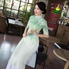 Cheongsam Chinese Women's Formal dress QiPao Evening Party Dress Retro Style