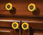 Sunflower Vintage Kitchen Resin Cabinet Knobs Drawer Pulls Country Home Decor