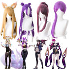 League of Legends KDA Girls/ Characters Synthetic Anime Cosplay Wig Combination
