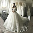 Luxury Ball Gown Wedding Dresses 2019 Bridal Gowns with Lace Robe Wedding Dresse