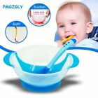 Children Tableware Temperature Sensing Baby Dishes Food Bowl Spoon Suction