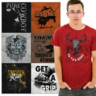 Country Western USA Tee Shirt Southern Graphic T-Shirt For Men Gift TShirts T image