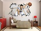 Stephen Curry Wall Hole 3d Decal Vinyl Sticker Decor Room Smashed Golden State
