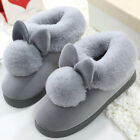 Women Plush House Slippers Ladies Non Slip Indoor Winter Warm Bedroom Shoes UK