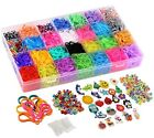10000pc Storage Case Organizer Rainbow Loom Rubber Bands Refill Bracelet Kit New
