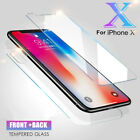 Front+Back Tempered Glass 360 Screen Protector For Apple iPhon X