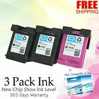 Black & Color Ink Cartridge Combo Fits HP 61 61XL DeskJet OfficeJet ENVY Printer
