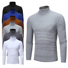 Fashion Mens Thermal High Collar Turtleneck Long Sleeve Pullover Sweater Shirt