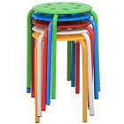"""Yaheetech 17.3"""" Plastic Stack Stools Portable Stackable Bar Stools School Chairs"""